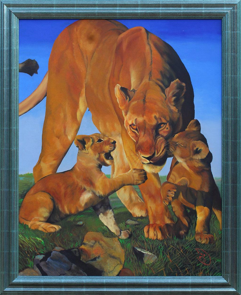 Tissot, lione et lionceaux
