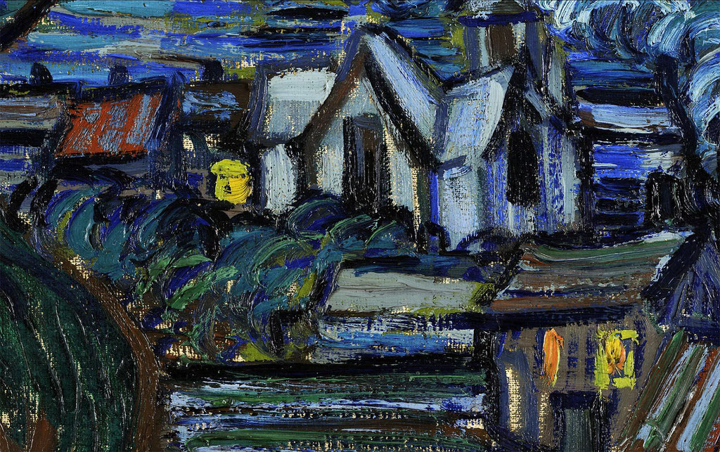 Van Gogh, nuit étoilée - extrait les maisons