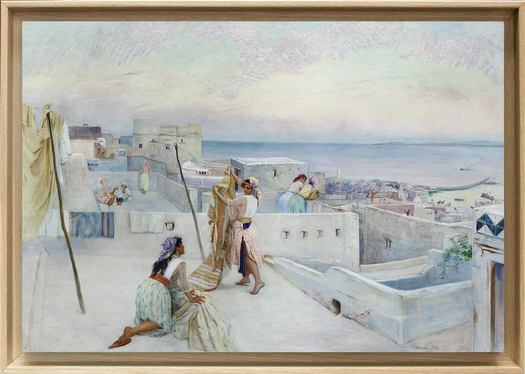 Knut, jeunes filles sur une terrasse à Alger
