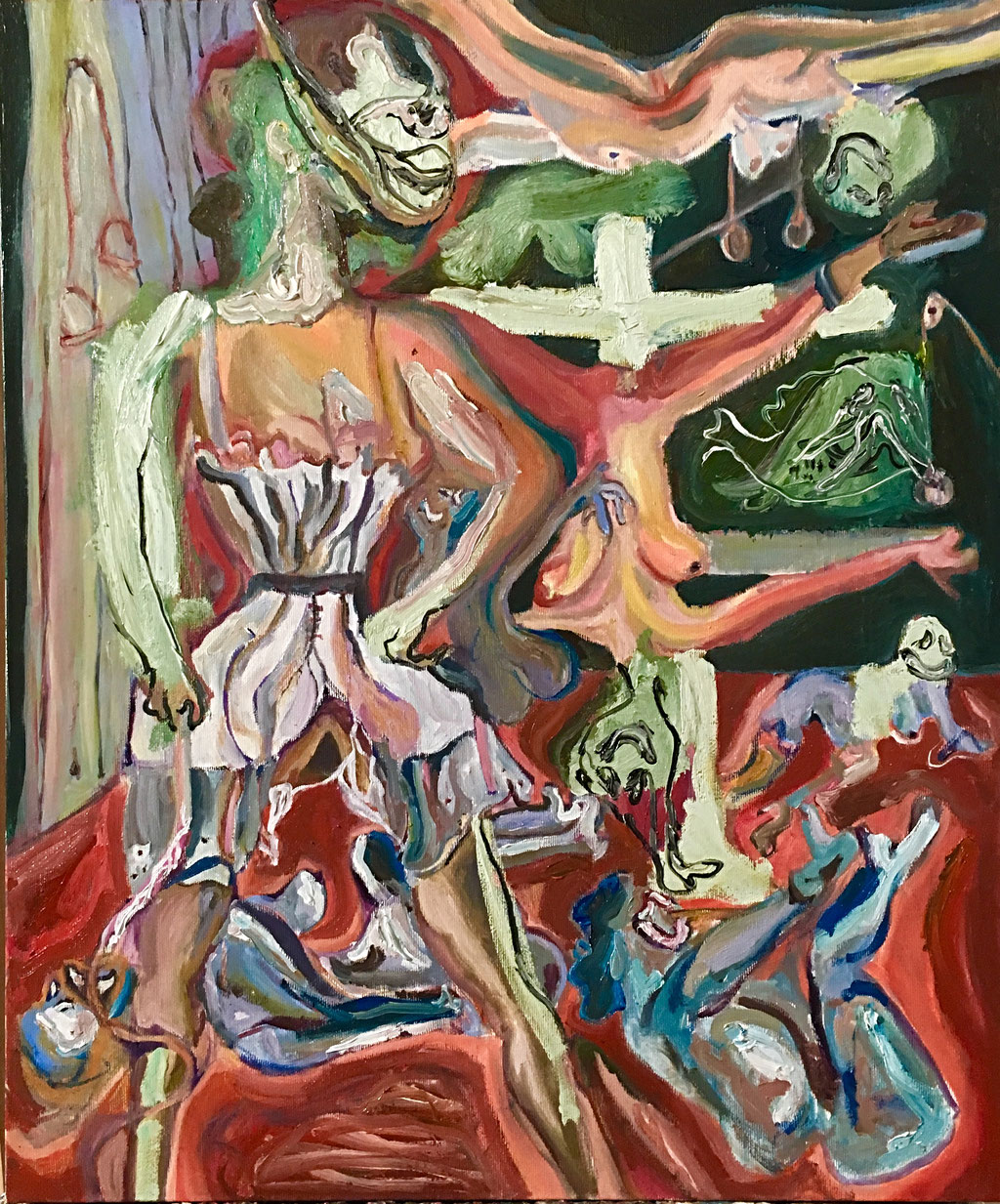 Thermocline Otto Dix, oil on canvas 50x60, 2017