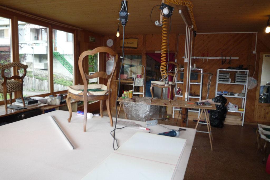 Innenansicht, Atelier in Neuenegg