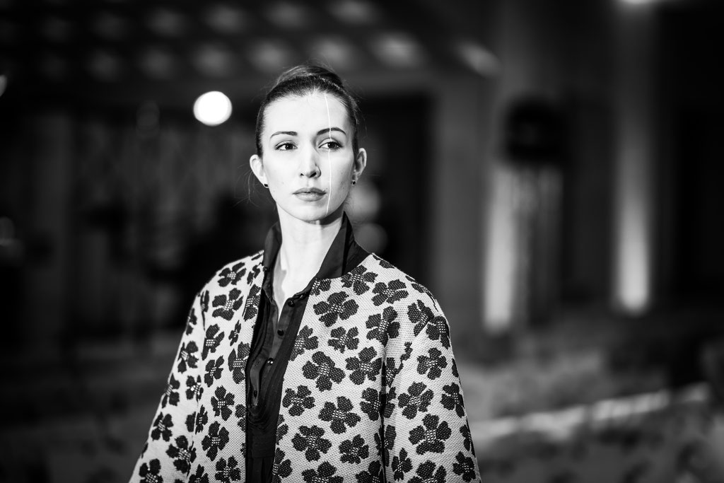 Model auf der Fashion Week in Berlin im Hotel Adlon