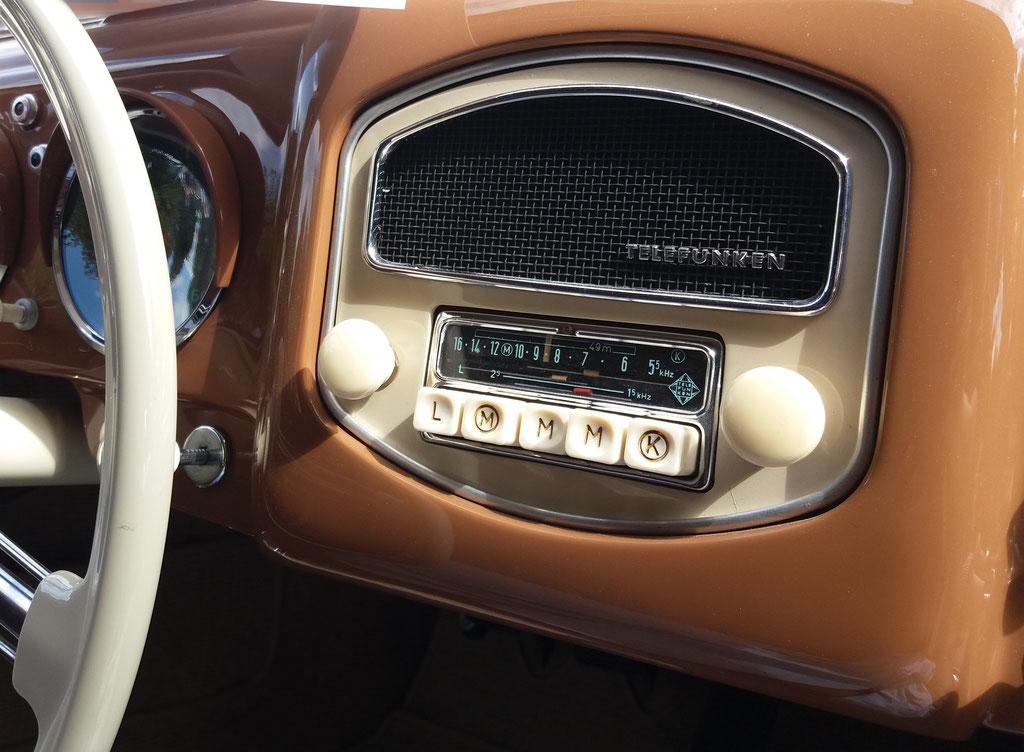 Telefunken Radio im Porsche 356 A, Classic Gala Schwetzingen 2018
