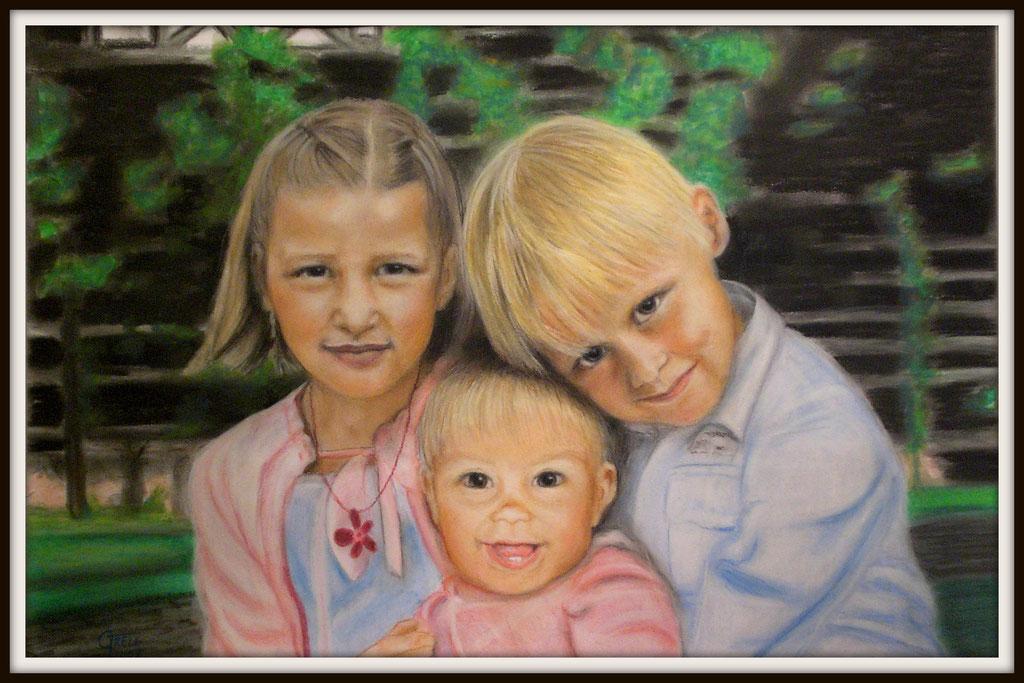 Kinder - Pastellkreide - 60x50cm