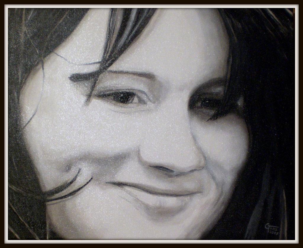 Mädchen - Acryl auf Leinwand - 60x50cm