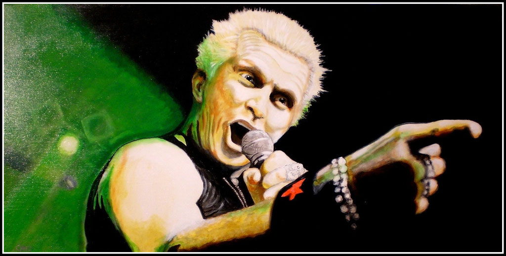 Billy Idol - Acryl auf Leinwand - 120x60cm