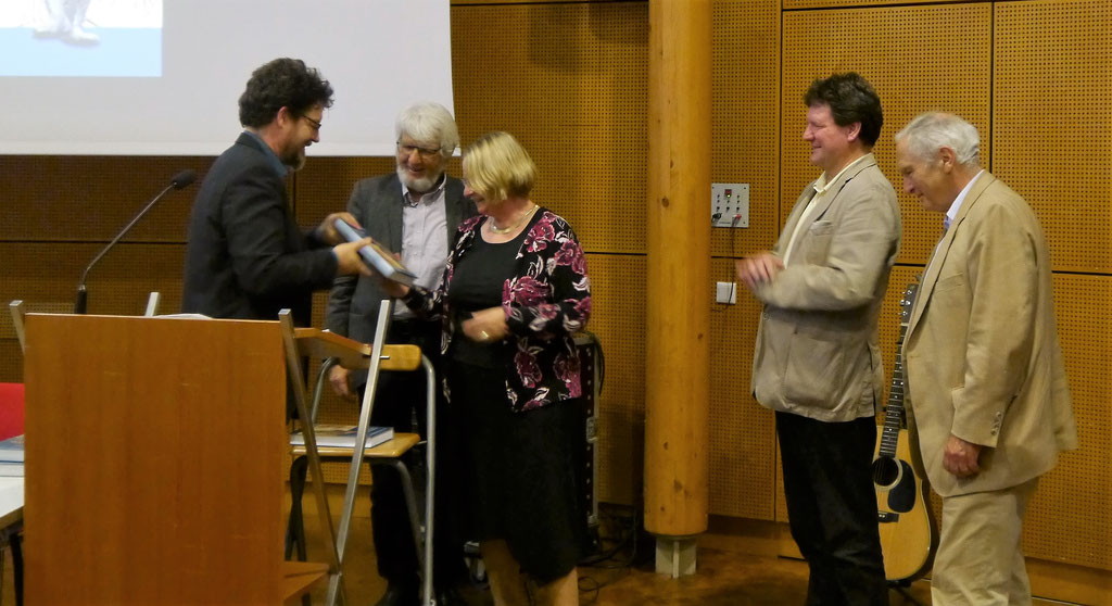 Rainer Maucher, Prof. Dr. Rolf Kießling, Frau Prof. Dr. Sigrid Hirbodian, Dr. Edwin Ernst Weber, Prof. Dr. Thomas Zotz  (v. l. n. r.)