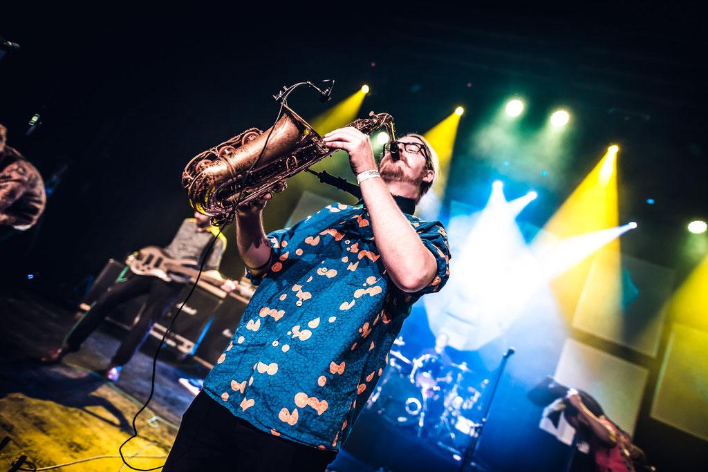Nikolas Langhammer - Saxophon / Organ / Vocals (©Sascha Schröder)
