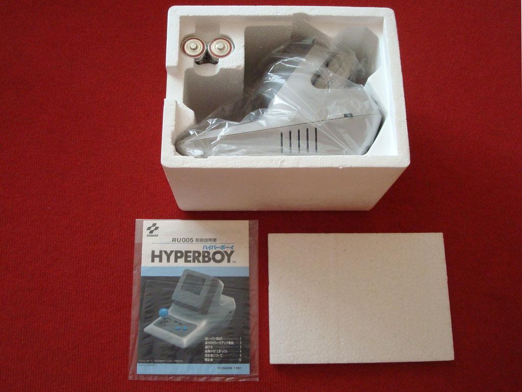 Contenido de la caja de la Konami Hyperboy