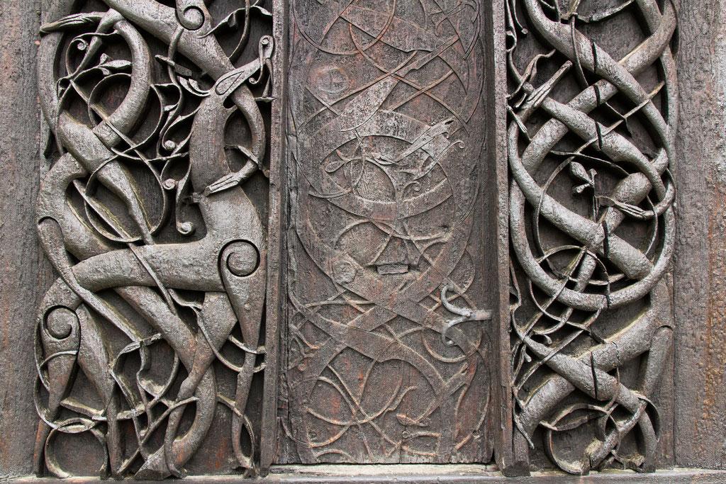 Detail der Urnes Stabkirche