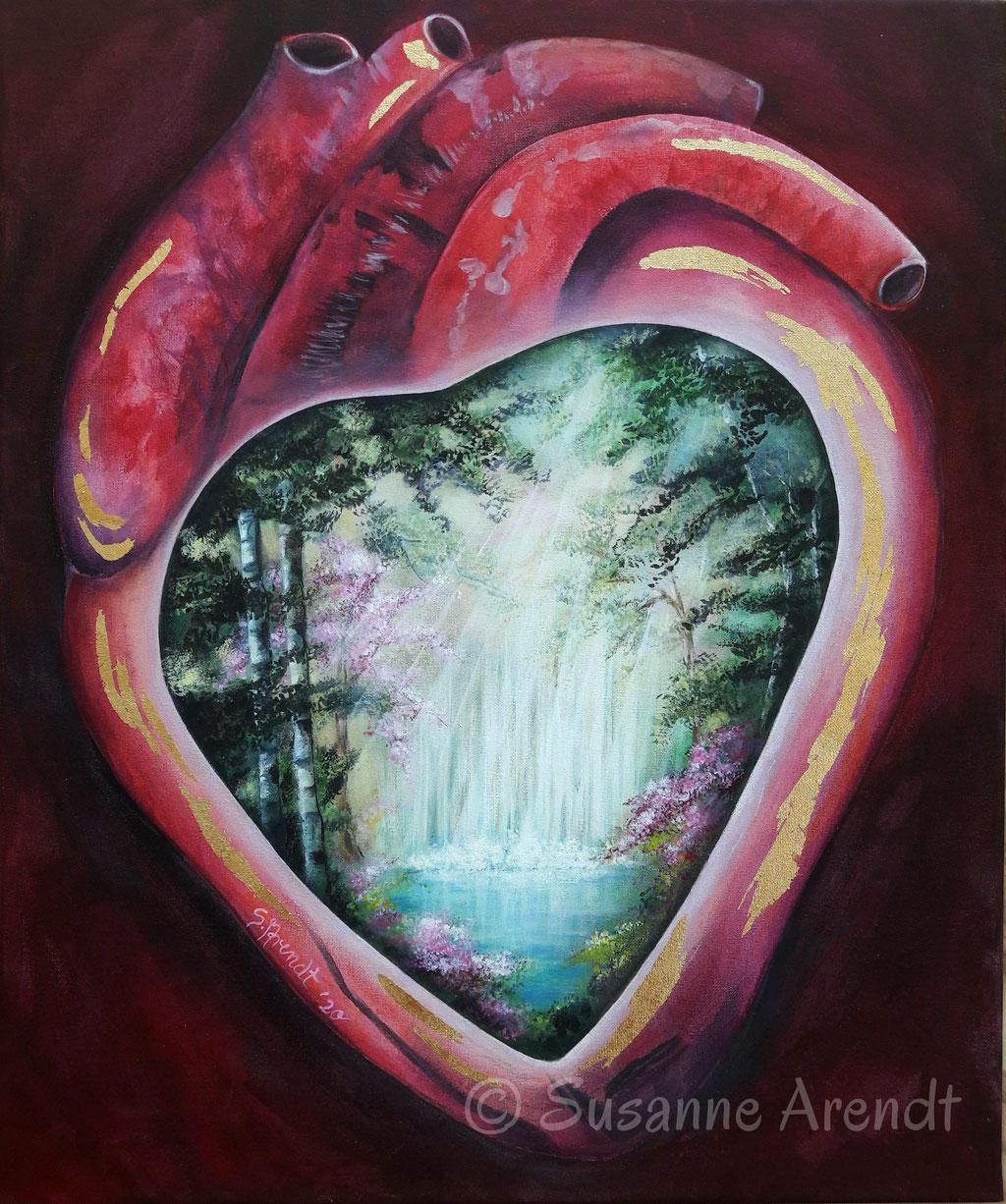 Im Herzen der Garten Eden, Auftragsmalerei Seelenbild - verkauft