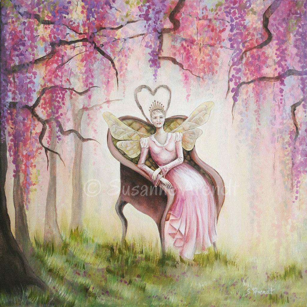 Erkenne die Königin in Dir, Auftragsmalerei Seelenbild - verkauft
