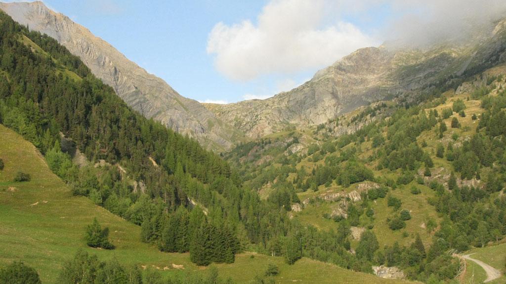 Le Collet, vue vers le col du Couard.