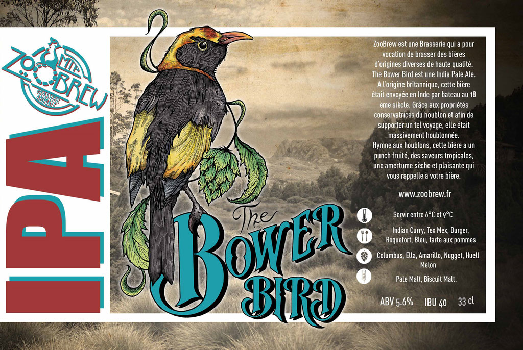 Bower Bird IPA ZooBrew Brasserie Animale Montpellier