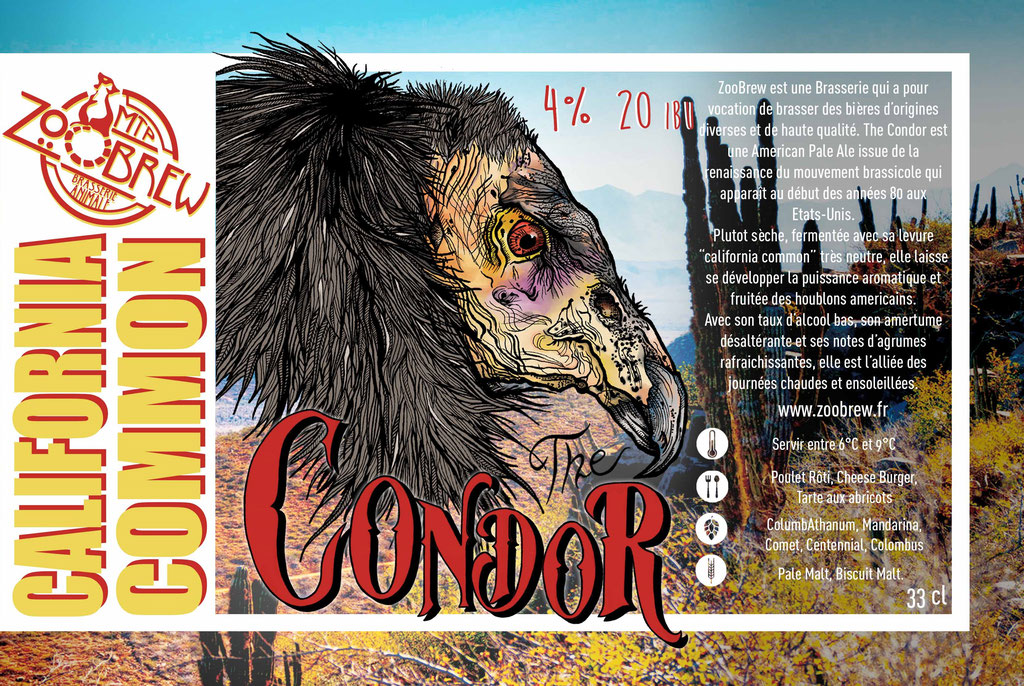 Condor California Common Montpellier ZooBrew Brasserie Animale