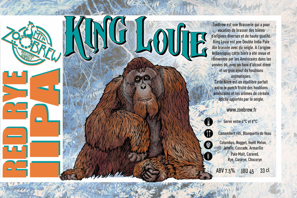 King louie IIPA Red Rye ZooBrew Brasserie Animale Montpellier