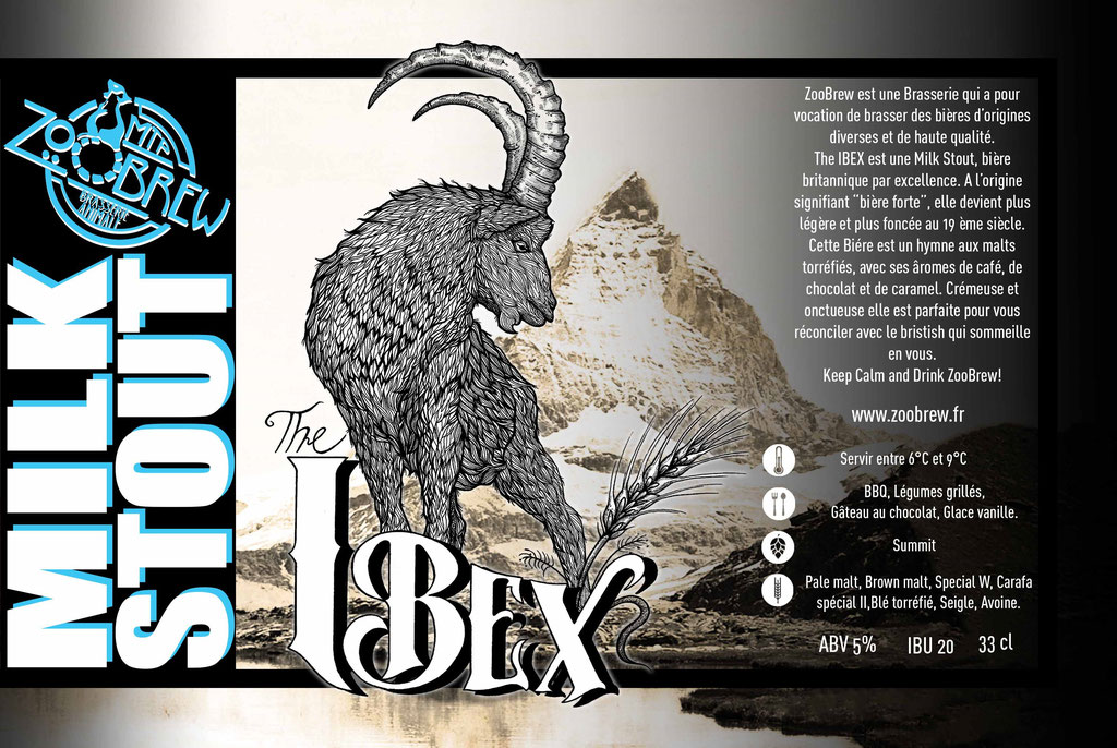 Ibex Milk Stout ZooBrew Brasserie Animale Montpellier