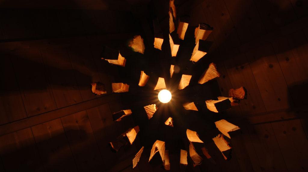 Exploding wood. Ontwerp en creatie door Sjors Mouthaan
