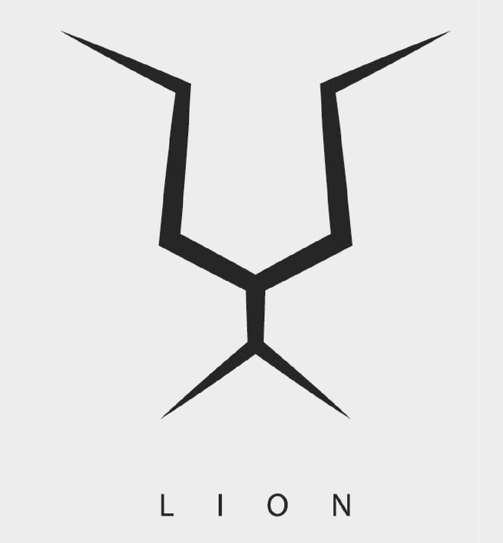 Lion minimalistisch grafisch design