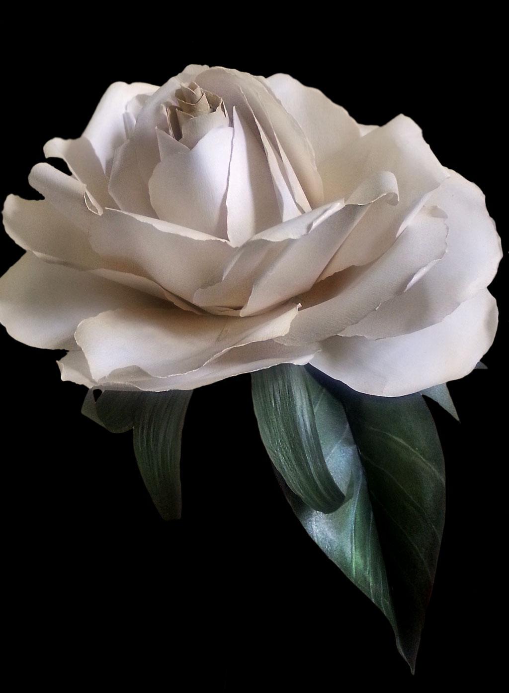 bouquet di carta, gardenia