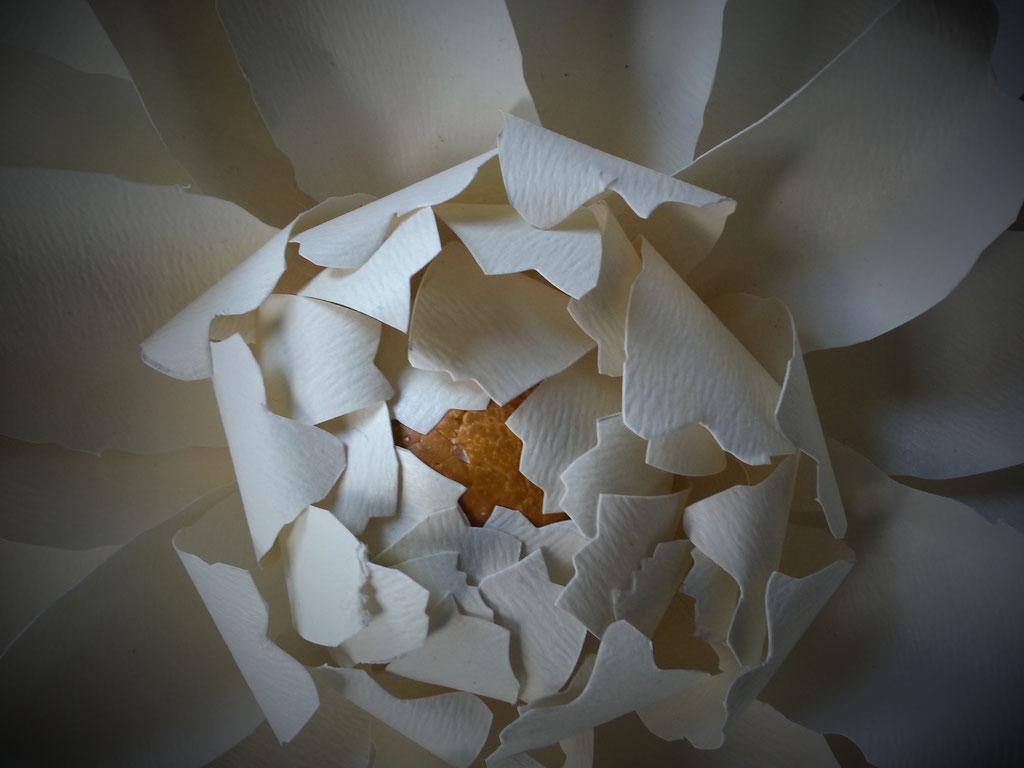 Scenografia vetrinistica, fiori di carta fatti a mano