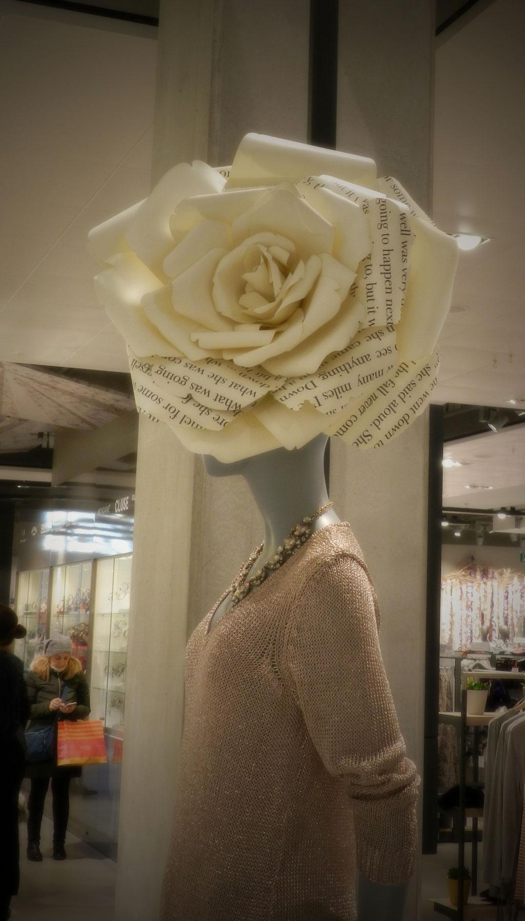 Rosa di carta, copricapo, John Lewis, Oxford