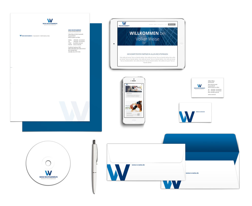 Corporate Design Rechtsanwalt Weise