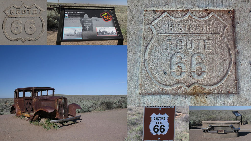 die Route 66 ging früher mitten durch den Park // Route 66 once went straight through the Park