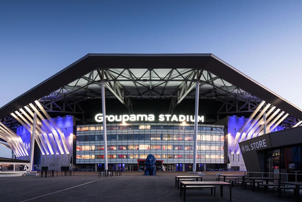 Groupama Stadium à Lyon, stade de l'Olympique Lyonnais