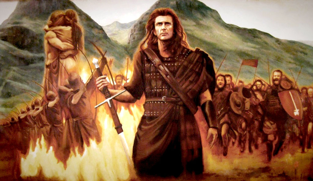 Close up of Braveheart  mural.