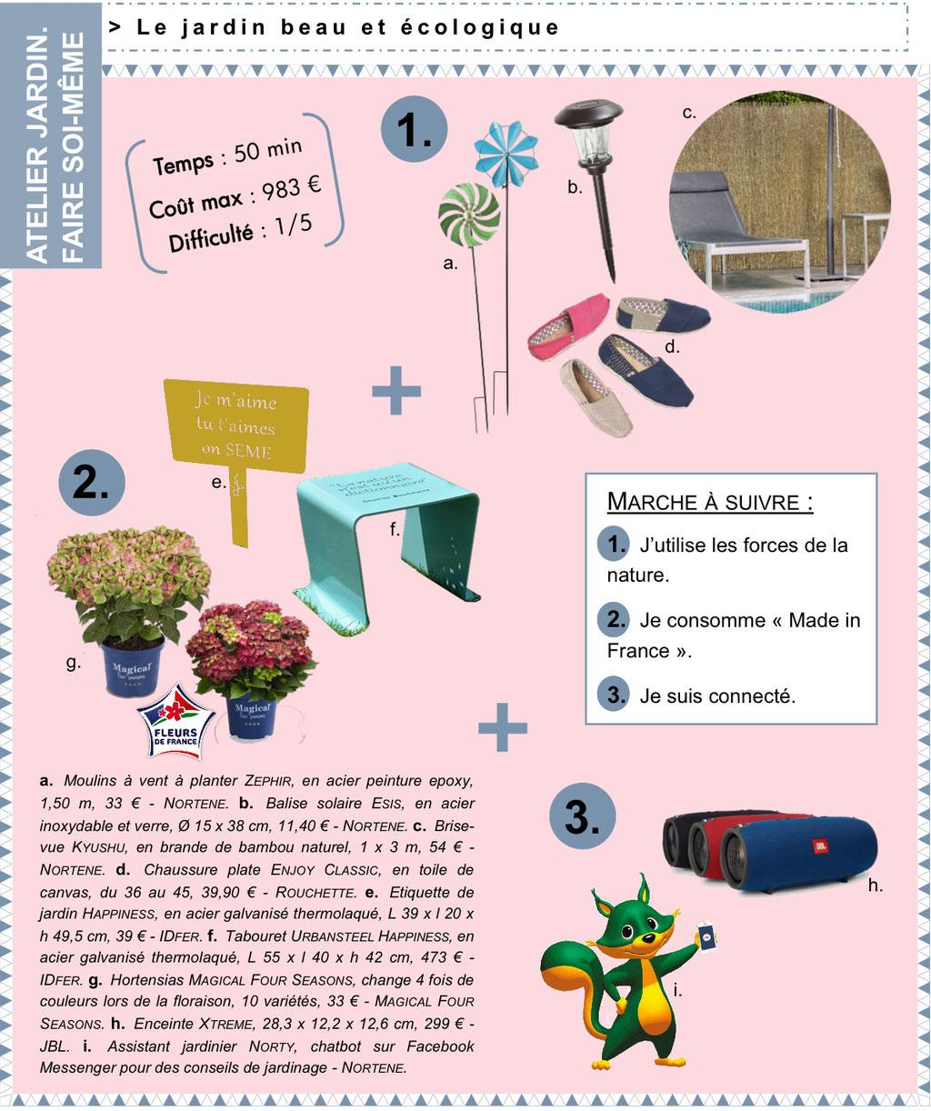 Atelier Jardin - Faire soi-même - Le Jardin beau et écolo - ArchiTendances à Jardins, Jardin 2017