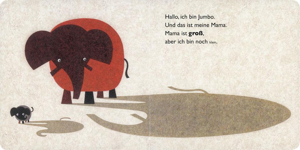 出版社:minedition タイトル:Kleiner Jumbo - grosse Mama 文・絵:Yasushi Muraki