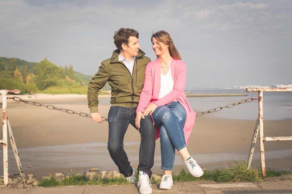 Authentische Hochzeitsbilder- WarmUp-Shooting an der Strandperle