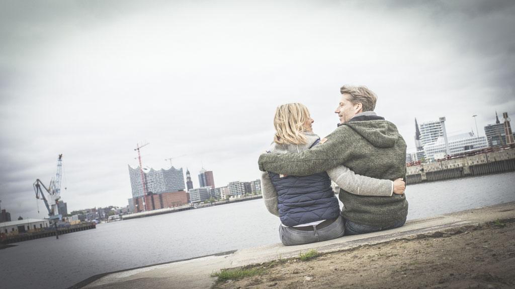 Hochzeitsfotografie Hamburg - WarmUp-Shooting gegenüber der Elbphilharmonie