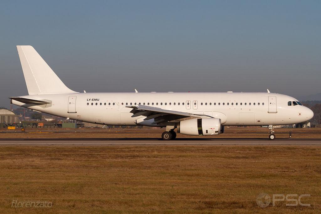 LY-EMU A320-233 2118 GetJet Airlines @ Aeroporto di Verona 16.02.2019  © Piti Spotter Club Verona
