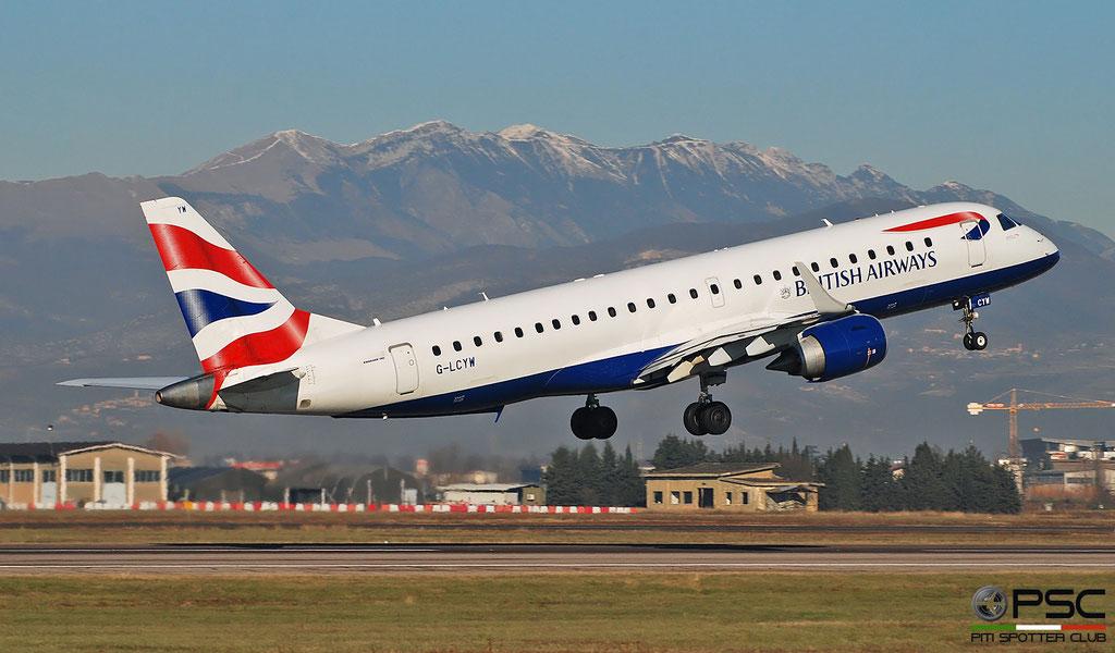 G-LCYW ERJ190SR 19000163 British Airways