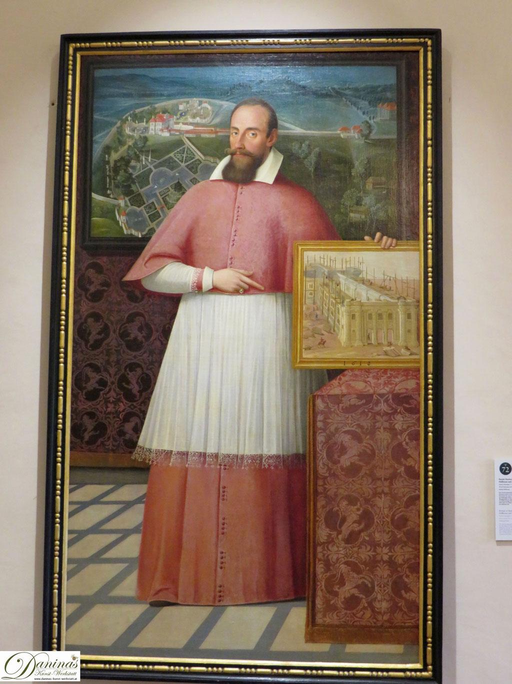 Fürsterzbischof Markus Sittikus. Gemälde im Schloss Hellbrunn in Salzburg