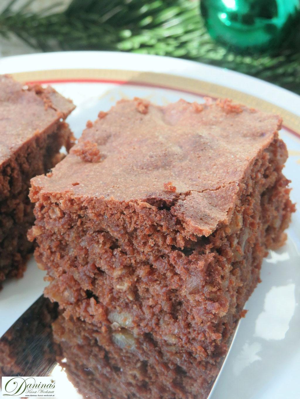 Schoko Brownies mit Nüssen Konditorrezept by Daninas Dad