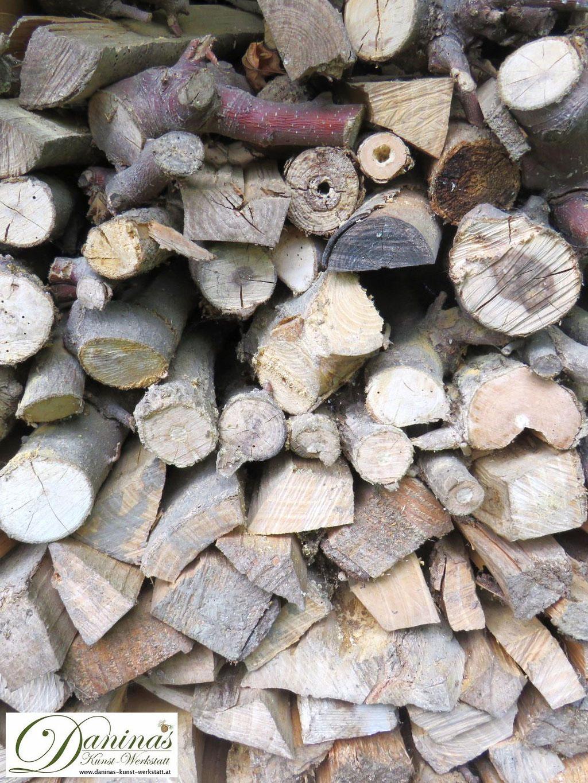 Ein Holzstapel im Naturgarten bietet verschiedenen Tieren Unterschlupf