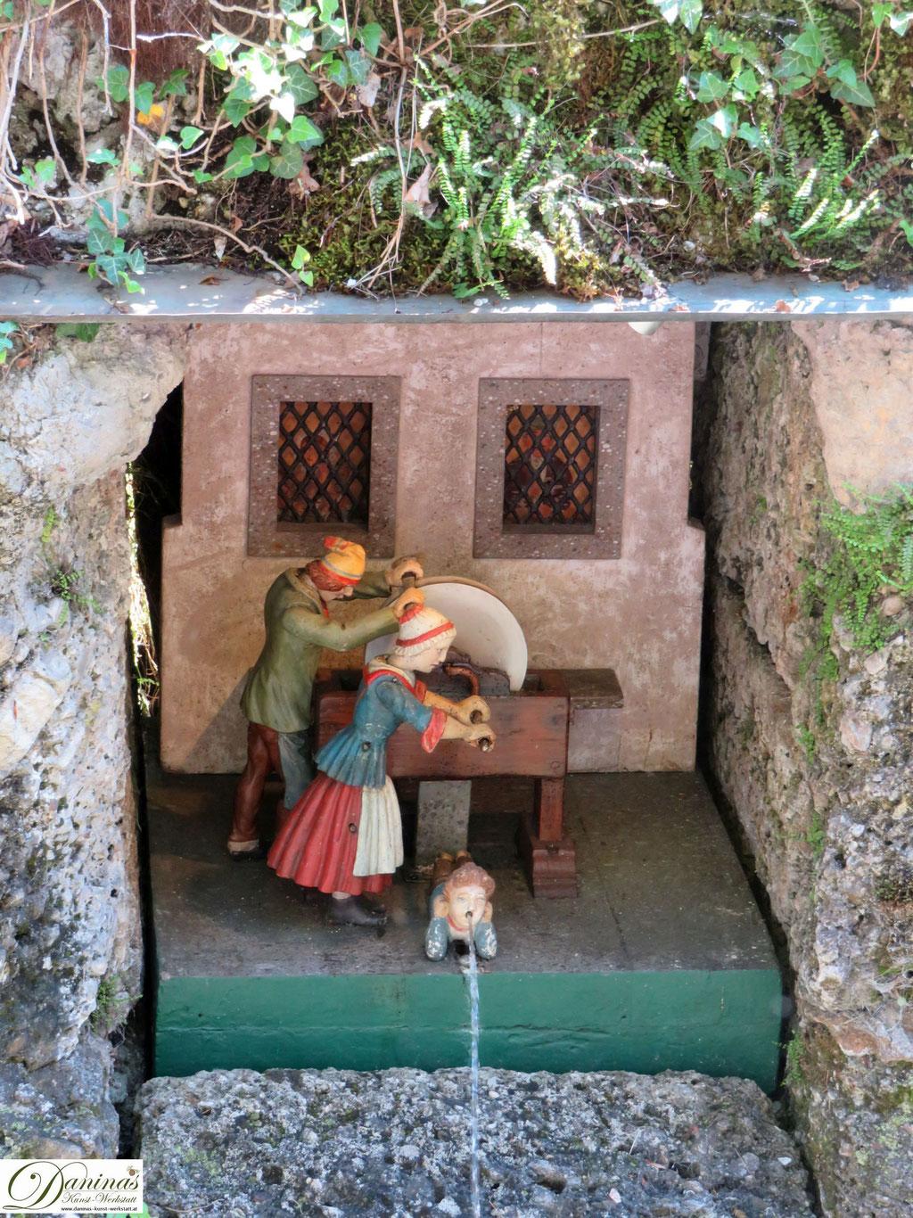 Wasserautomat: der Müller - Hellbrunner Wasserspiele Salzburg