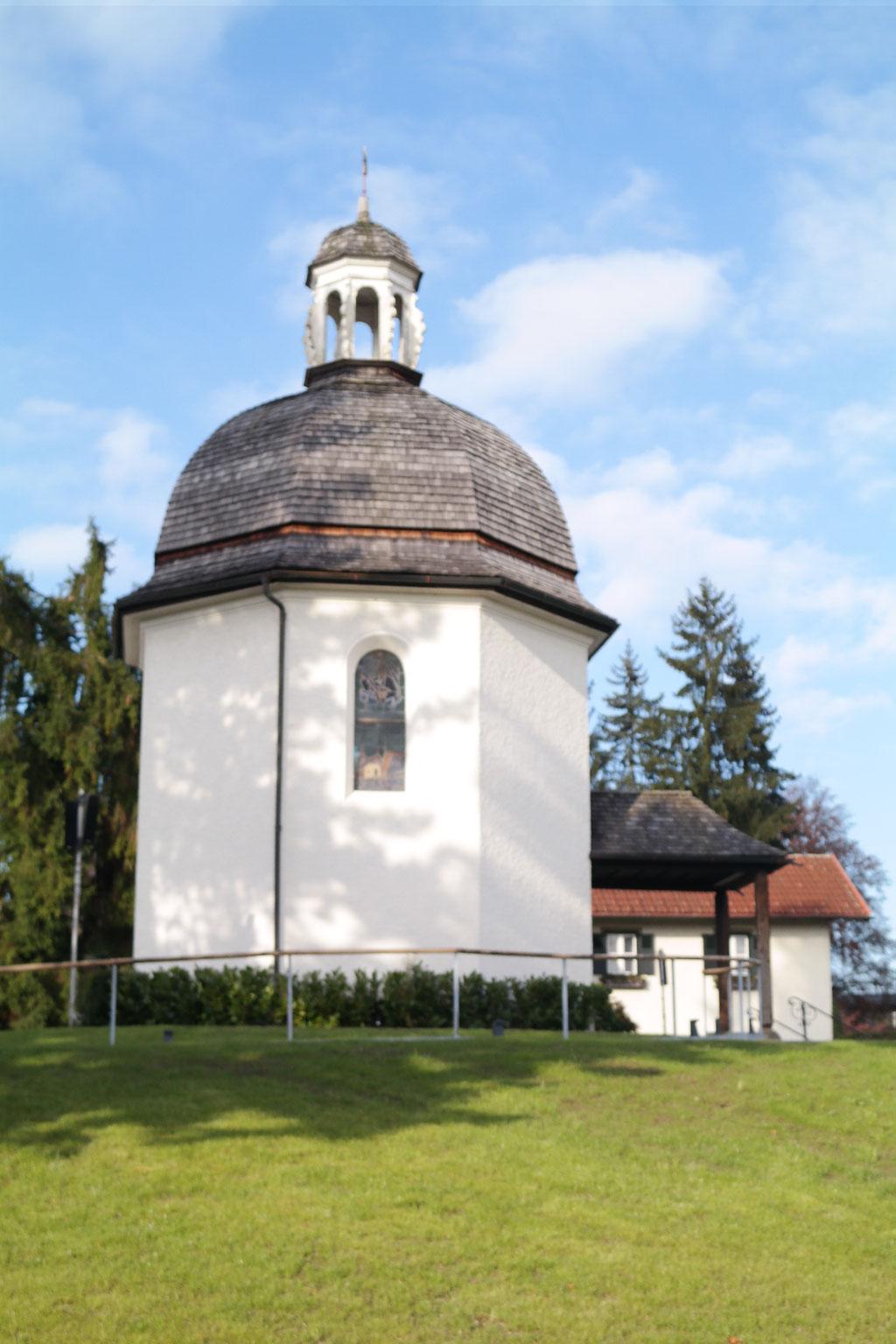 Stille Nacht Kapelle in Oberndorf bei Salzburg. Gendenkstätte des weltbekannten Weichnachstsliedes.