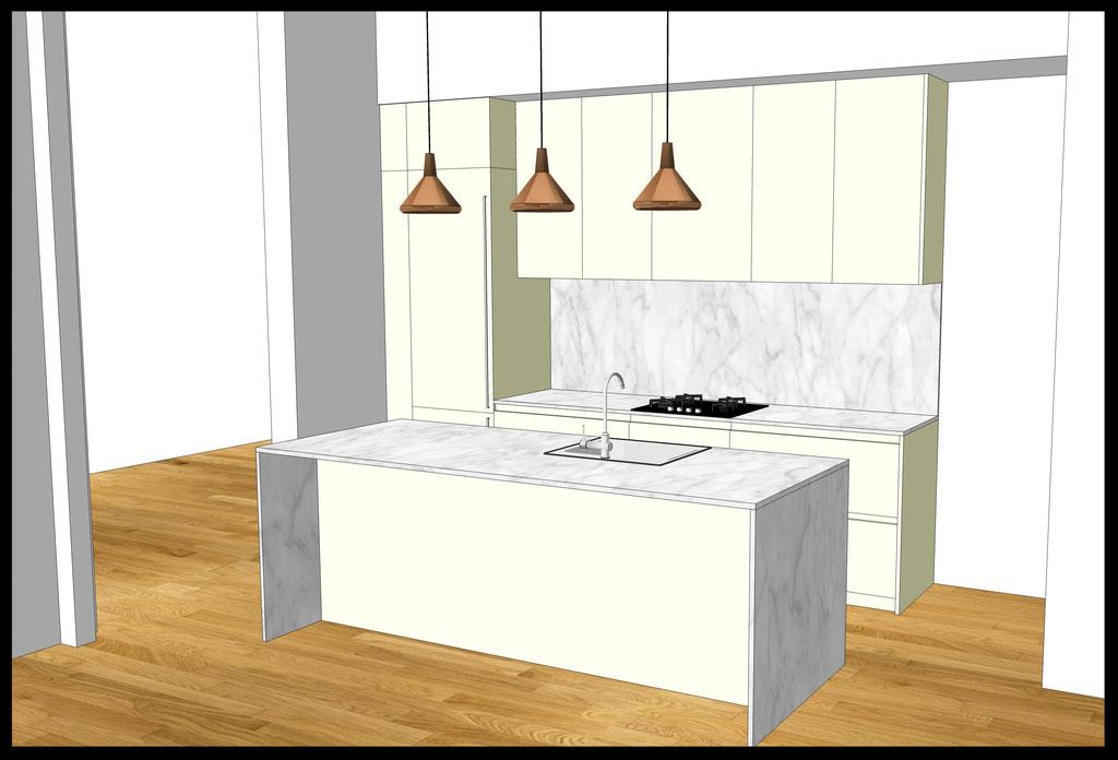 Conception d'un cuisine sur-mesure par MP intérieurs, Architecte d'intérieur UFDI : Vue d'ensemble