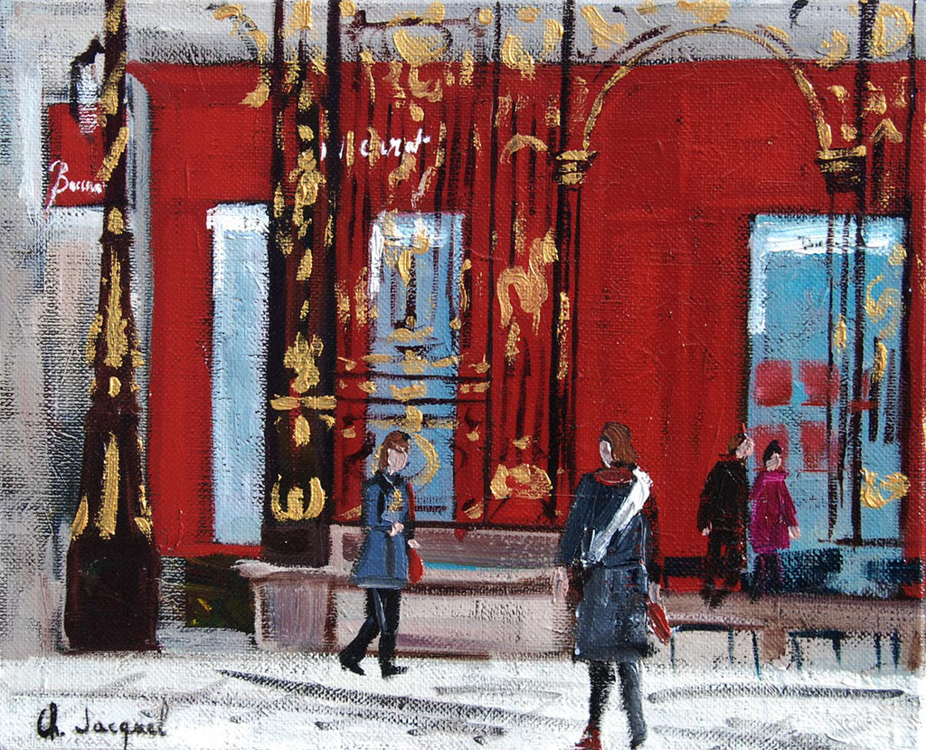 Peinture à l'huile place Stanislas à Nancy 22cm x 27cm