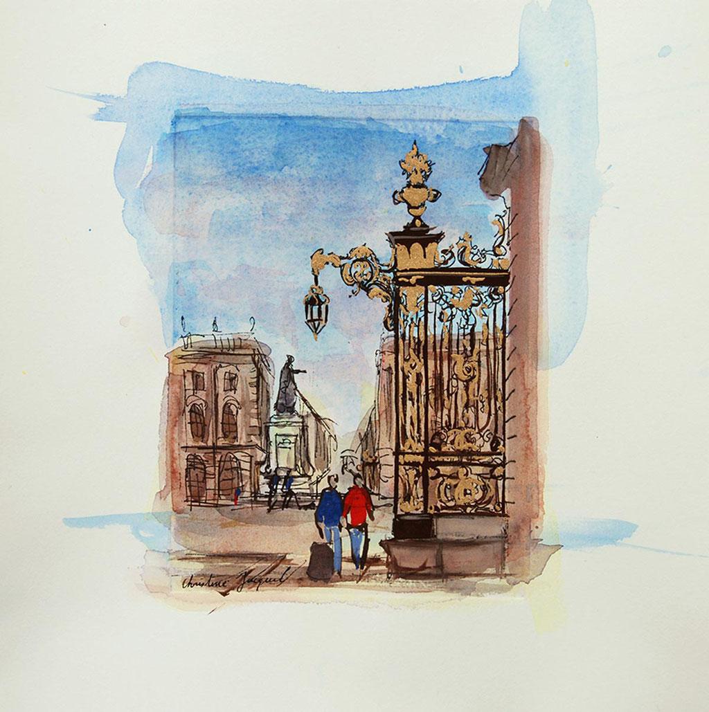 Peinture des grilles de la place Stanislas