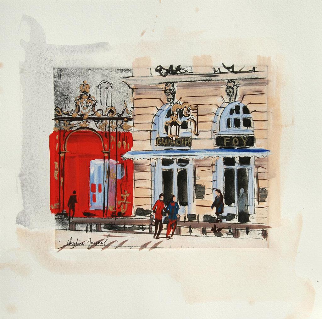 Peinture du Grand Café Foy place Stanislas à Nancy