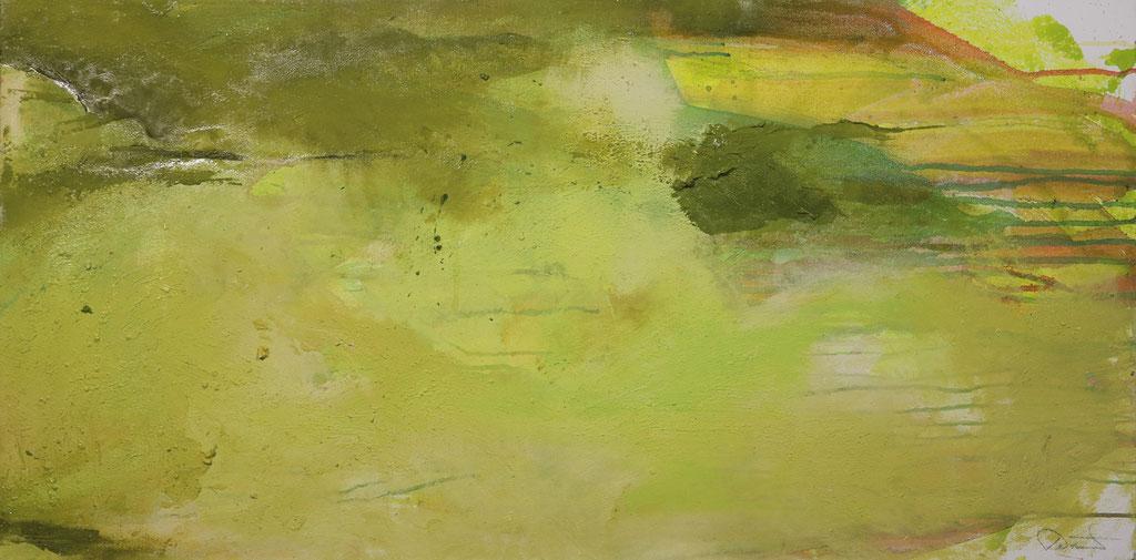 09 - Y55  |  50 x 100 cm  |  Mischtechnik auf Leinwand  |  (Zweiteiler)