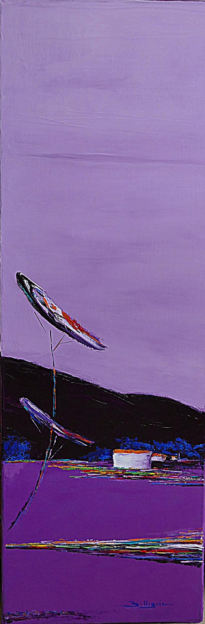 alain-belleguie-lavandes H / T  90 cm x 30 cm (Collection privée)