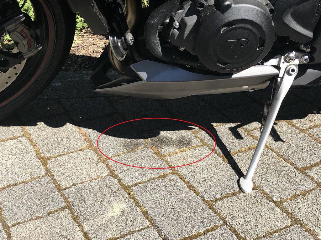 Street Triple 765 Rs 2018 Verliert Kühlflüssigkeit Fumotorocks