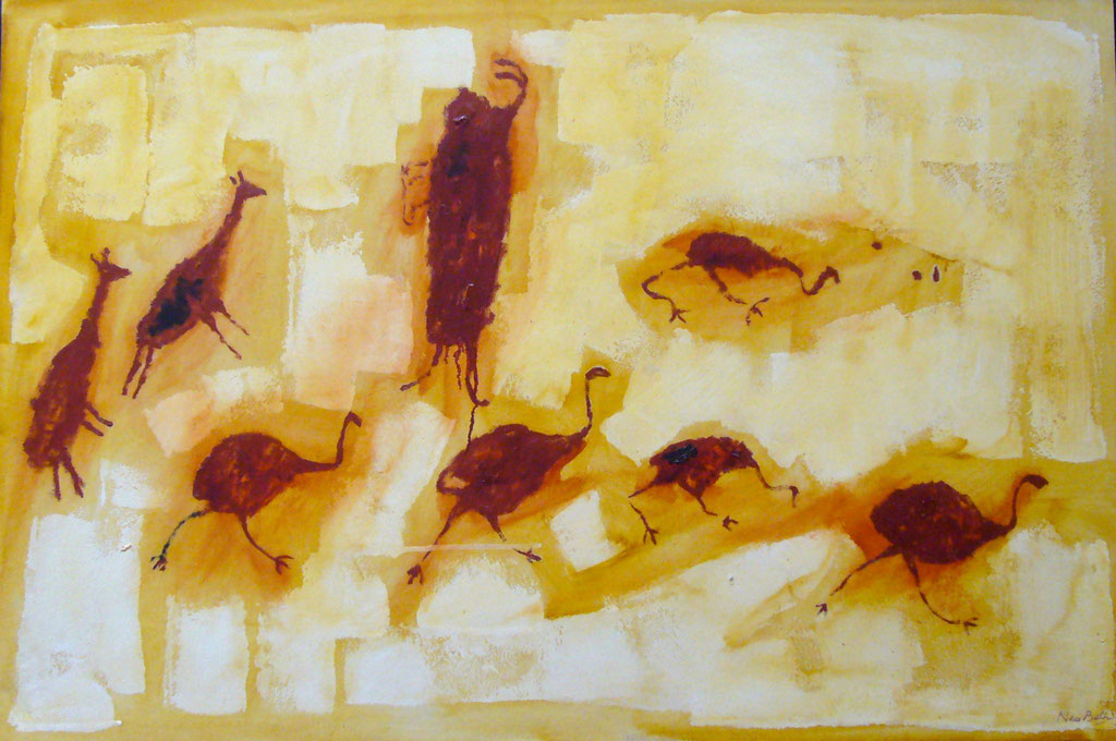"""Rojo óxido 2"" Óleo / Panel 60 x 90cm. 2005.      Available"