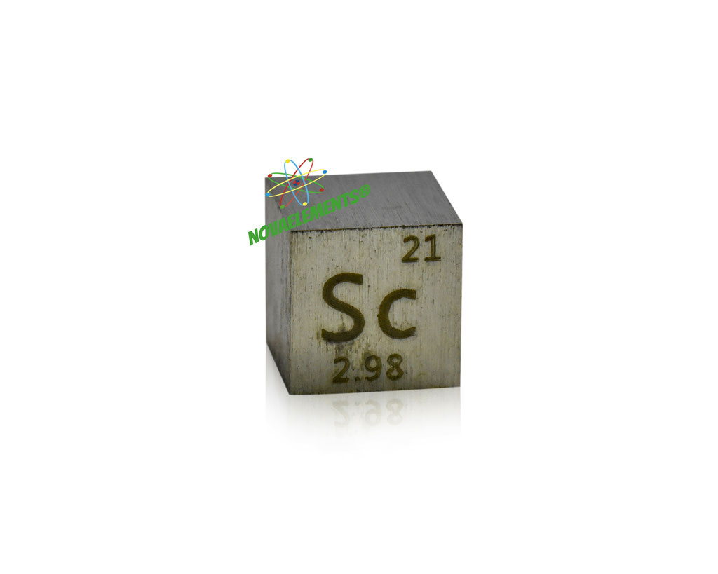 scandio cubi, scandio metallo, scandio metallico, scandio cubo, scandio cubo densità, nova elements scandio